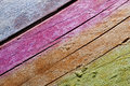 Multicolor wooden board Stock Photos