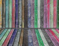 Multicolor wooden interior Royalty Free Stock Photography