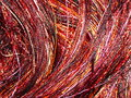 Multicolor yarns used as background Royalty Free Stock Photos
