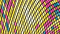 Multicolored abstract background of yellow, blue, pink squares, rhombuses, rectangles tiles, mosaic with seams of glowing magical