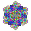 Multicolored abstract floral fractal