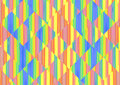 Multicolored abstract striped and square shape background. Royalty Free Stock Photo