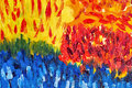 Multicolored abstraction by oil paints
