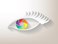 Multicolored aperture eye Stock Images