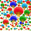 Multicolored background of chinese lantern Stock Photography