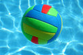 Multicolored ball in the pool Stock Photography