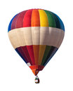 Multicolored balloon white isolated Royalty Free Stock Images