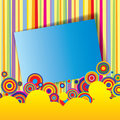 Multicolored banner Stock Image