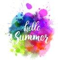 Multicolored blot Hello summer