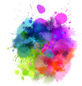 Multicolored blot watercolor splash for your design Stock Photo