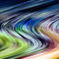Multicolored blurred curved lines