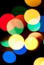 Multicolored blurred lights Stock Photography