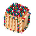 Multicolored box of matches Royalty Free Stock Photos