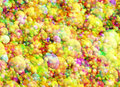Multicolored bright bubbles texture in chaotic arrangement Royalty Free Stock Photography