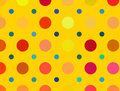 Multicolored bright polka dots pattern abstract backgrounds background Stock Photography