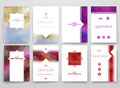 Multicolored brochures template in trendy style Royalty Free Stock Photo