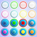 Multicolored buttons multi colored from metal Royalty Free Stock Photo
