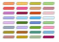 Multicolored buttons set for web design empty rectangle buttons in different color hue suitable as hover effect eps Stock Photo