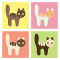 Multicolored cats set. Royalty Free Stock Photography