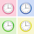 Multicolored clock set. Royalty Free Stock Photo