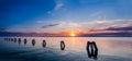 Multicolored coastline panorama Royalty Free Stock Photo