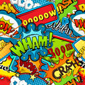 Multicolored comics speech bubbles seamless pattern vector