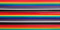 Multicolored computer cable colored wires background Stock Image