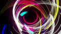 Multicolored Concentric Abstract Line Swirl Loop with Alpha