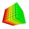Multicolored cube concept energy efficiency Stock Image