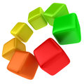 Multicolored cubes concept of efficient energy use Royalty Free Stock Photos