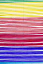 Multicolored curling grass curtain Stock Photo