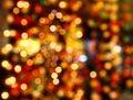 Multicolored defocused bokeh lights background Stock Photo