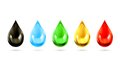 Multicolored droplets vector icons Royalty Free Stock Photo