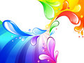 Multicolored drops background Stock Image