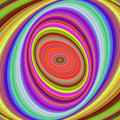 Multicolored elliptical digital fractal background