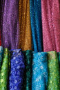Multicolored fabric for sale Stock Photos