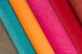 Multicolored Fabric Swatches Royalty Free Stock Photo