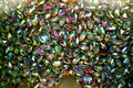 multicolored faceted crystals