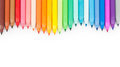 Multicolored felt tip pens on white background Royalty Free Stock Photography