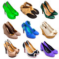 Multicolored female shoes-12 Royalty Free Stock Photography
