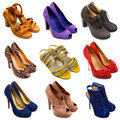 Multicolored female shoes-14 Stock Photography