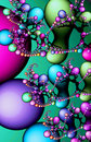 Multicolored fractal lava lamp galaxy Royalty Free Stock Photo