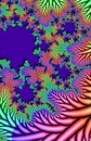 Multicolored fractal leaves Royalty Free Stock Photos