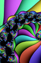 Multicolored fractal pattern Royalty Free Stock Image