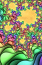 Multicolored fractal pattern Stock Photos
