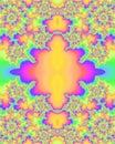 Multicolored Fractal Pattern