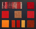 Multicolored furniture fabric samples Royalty Free Stock Photo