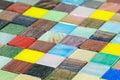 Multicolored glass smalt tiles mosaic background