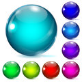 Multicolored glass spheres Royalty Free Stock Photo