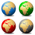 Multicolored Globes Royalty Free Stock Image